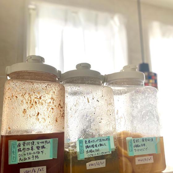 発酵ドリンクは3種のうちいずれかをお出しします