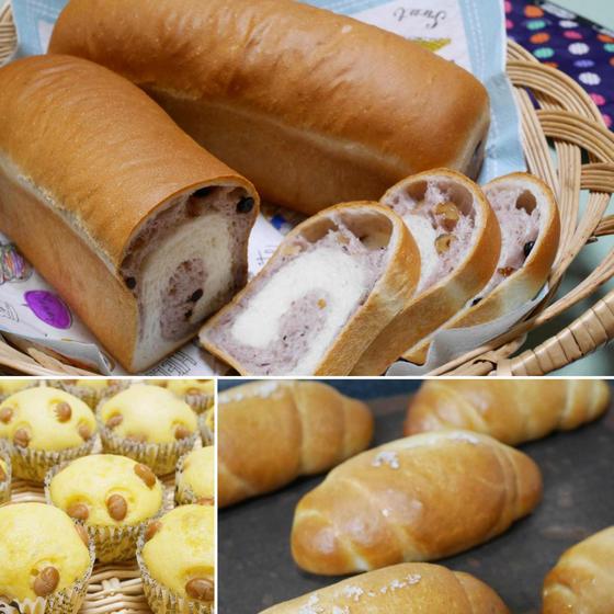 【6月ワンデイレッスン】ブルーベリーの渦巻きパン&塩パン