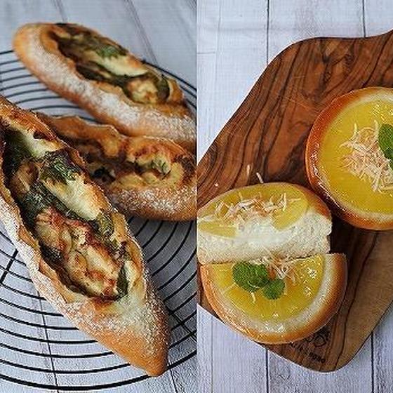 梅しそチキン・パイナップルパン