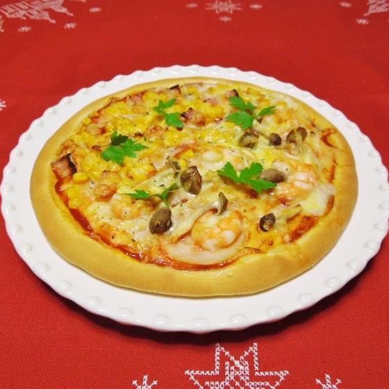 ピザパン(湯種パン)