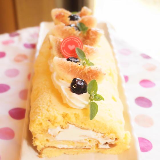 糖質量80%カット!秋のフルーツロールケーキ(初回特別価格)