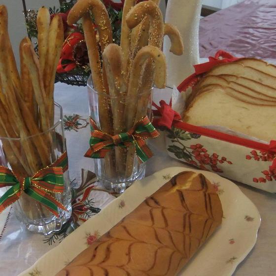 初めてレッスン(食パン、チーズスティック、ロールケーキ)