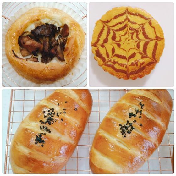 秋の味覚!さつまいもパン、きのこパン、かぼちゃチーズケーキ