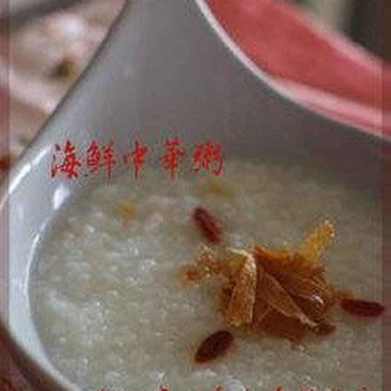 海鮮中華粥・基本の春巻き・黒ゴマ杏仁プリン・台湾茶