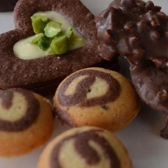ラングドシャレッスン(プレーン&チョコナッツ&チョコサンド)