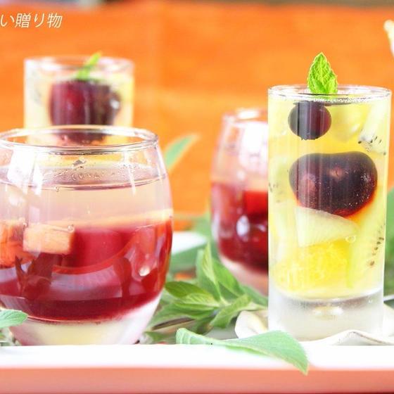 ゼリー2種 フルーツパフェ