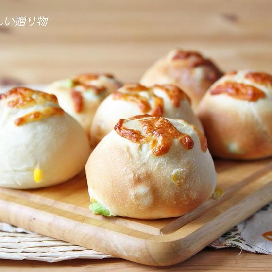 枝豆とコーンのチーズパン