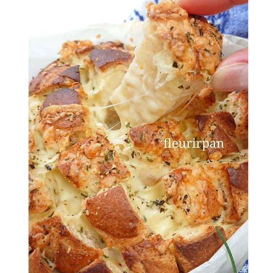 ふんわりパン2種類♪スイートブール&プルアパートブレッド