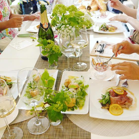 初夏の野菜とハーブを使ったお料理レッスン