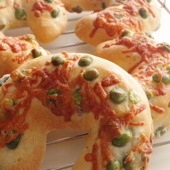 夏に食べたい枝豆のパンとお弁当にいいドックパン