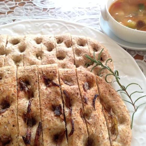 時間に拘束されないホシノ酵母パン初心者3か月コース 2回目 フォカッチャ2種&ミネストローネ