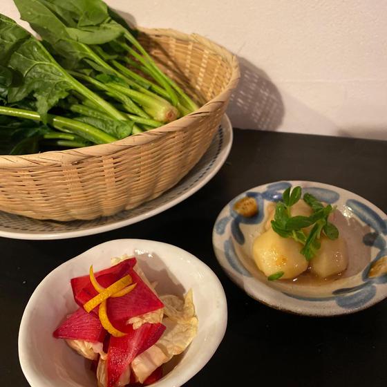 副菜は季節野菜を使って!