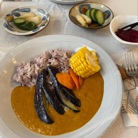 甘糀カレー、夏野菜バージョン!