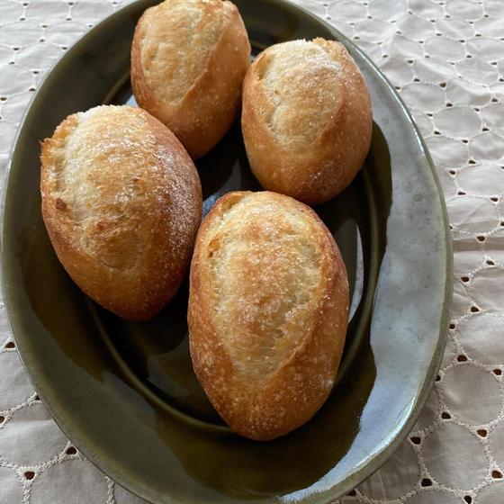 柚子酵母で バターシュガークッペ