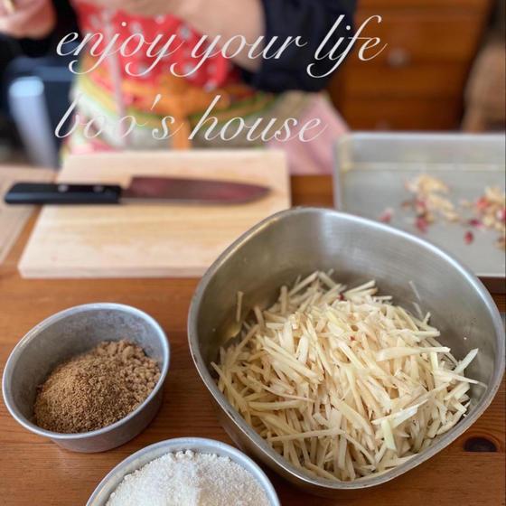 新生姜でジンジャーシロップ作り