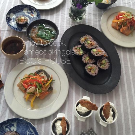 【旬食材で季節料理】季節の魚で南蛮漬けとヘルシーベジキンパ