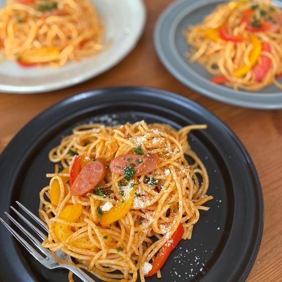 自家製トマトソースで夏野菜パスタを!