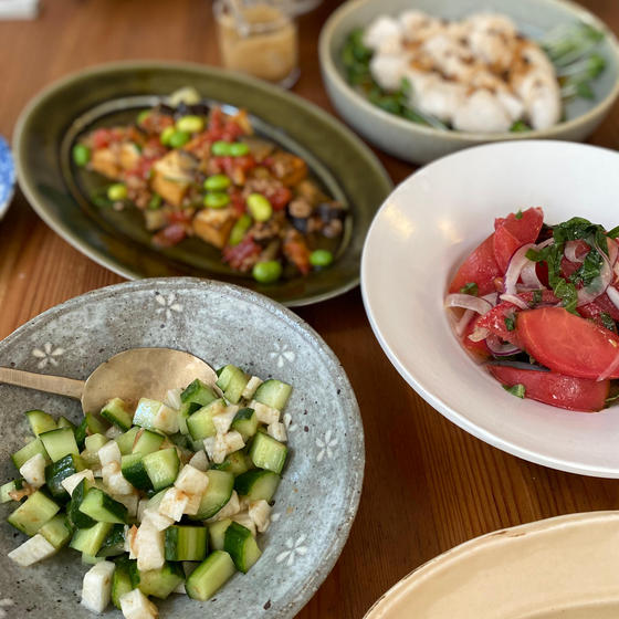 麺つゆと夏野菜をたっぷり使って、手軽に作れます!