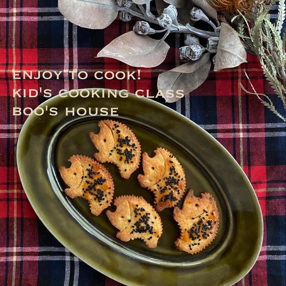 【子供お菓子&パン教室】バターナッツ南瓜型ぬきクッキー&全粒粉ホットドッグ