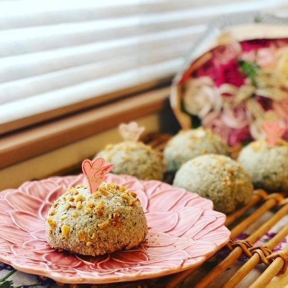 カリカリお芋メロンパンの皮と、ほっくりお芋のパン生地✨