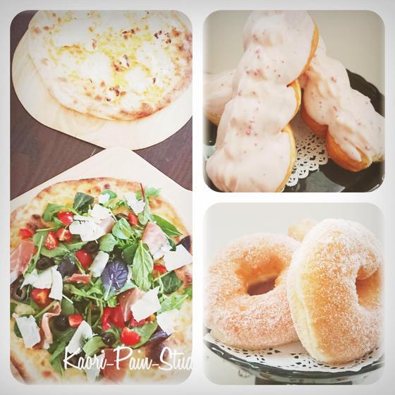 【薄焼きサラダピッツァ&2種のドーナッツ】