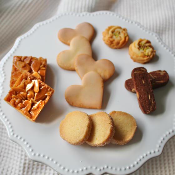 5種類のクッキー