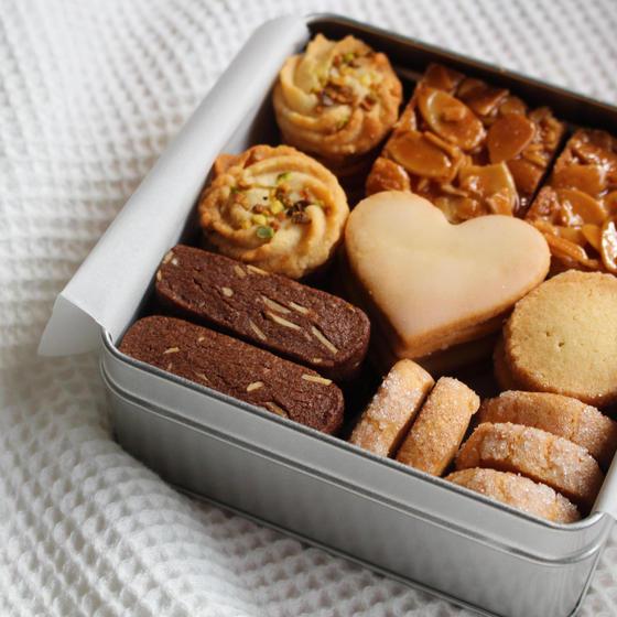 秋の特別レッスン、クッキー缶 ♡ 塩味のセイボリー風を含めた5種のクッキー