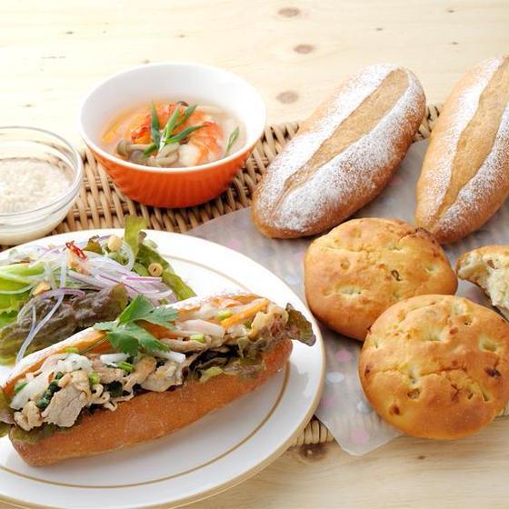 塩麴活用レッスン 塩パン・バインミー・塩麴スープ