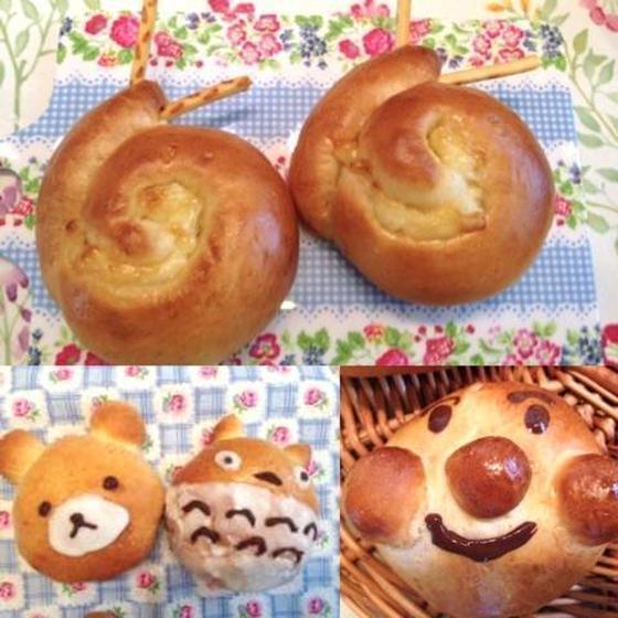 夏休み親子レッスン  手ごねキャラクターパン&アイス作り