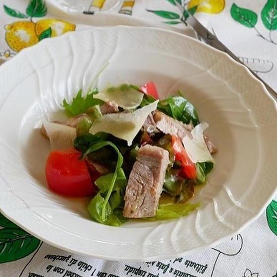 9月メニュー 豚肩ロース肉のタリアータ