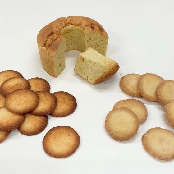 バニラシフォンケーキ、ディヤマン、ココナッツクッキー