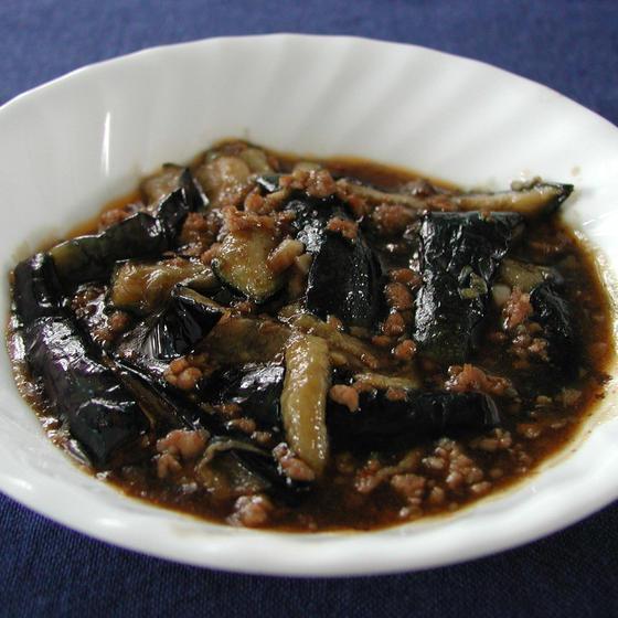 おうちで簡単本格中華:ナスと豚ひき肉の豆板醤煮込み
