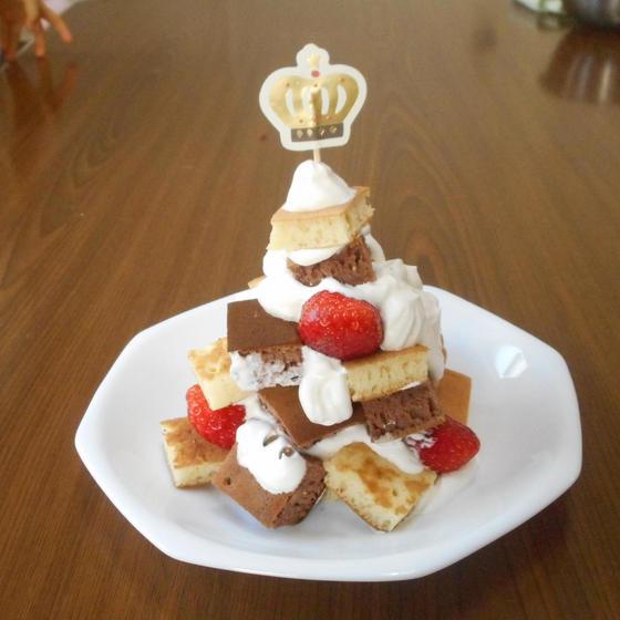 親子で一緒に【1歳半~】ツリーケーキ・サラダづくり