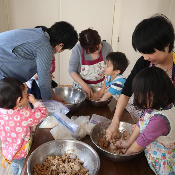 【体験 2歳~小学生親子】親子で味噌作り・食事付き