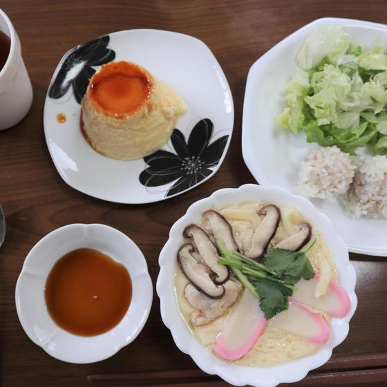 【2歳~小学2年親子】フライパンでつくる「プリン」と「茶碗蒸し」+「もち米蒸し肉団子」