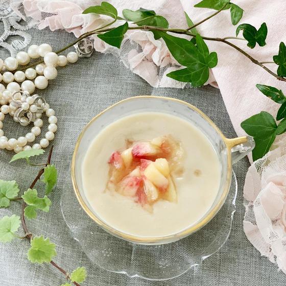 桃のデザートスープ