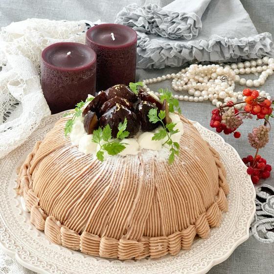 モンブランドームケーキ