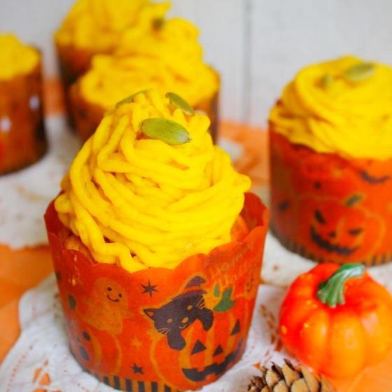 【グルテンフリー】かぼちゃのモンブランマフィン