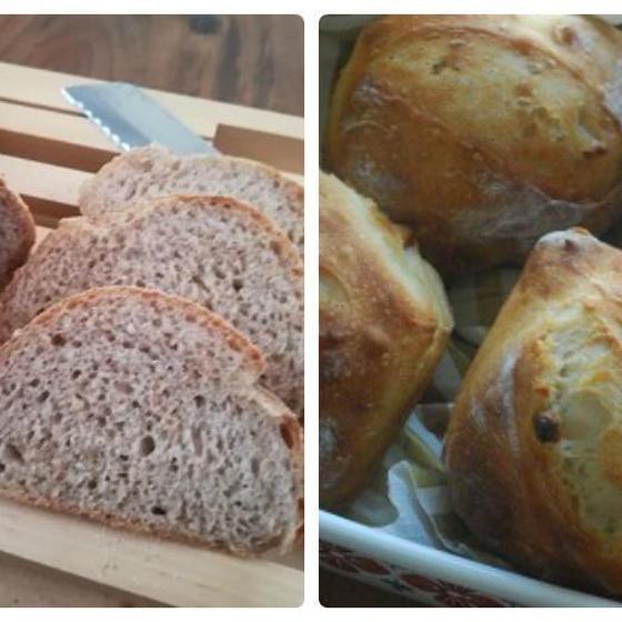 「ライ麦ブレッド&はちみつ松の実パン」