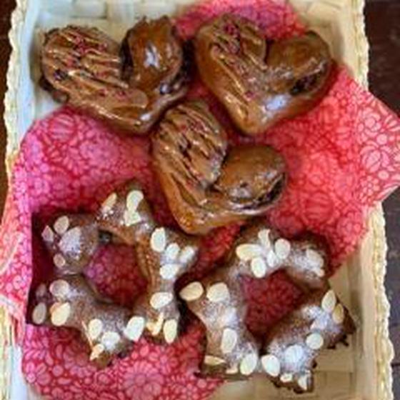 ショコラブレッドと胚芽食パン