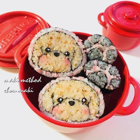 簡単につくれて、お家ごはんが楽しくなる!トイプードル巻き寿司