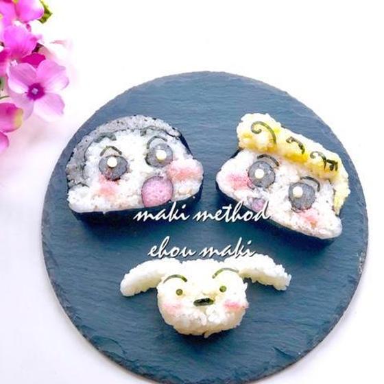 【オンライン】簡単・可愛い巻き寿司づくり(クレヨンしんちゃん)巻きすなしでOK