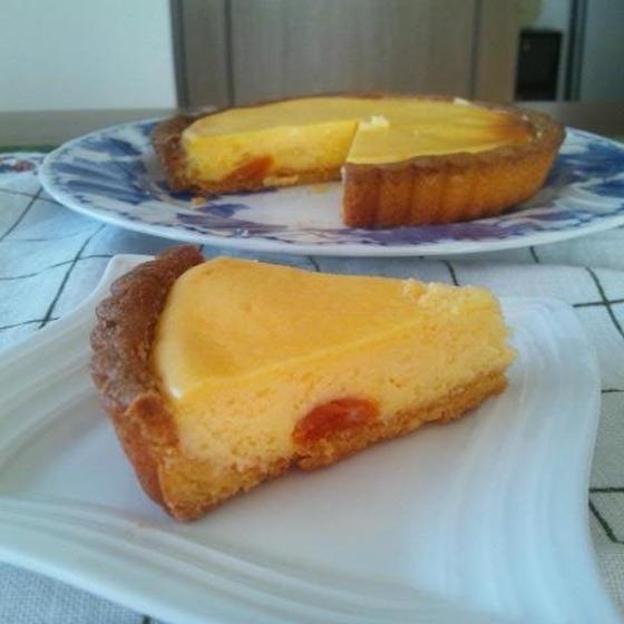 アプリコットベイクドチーズケーキ(15㎝タルト型)