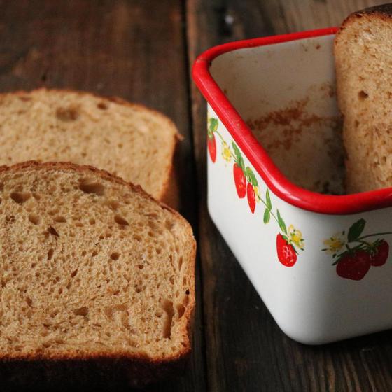 【オンライン講座@Zoom】ホーロー食パン:黒糖食パン