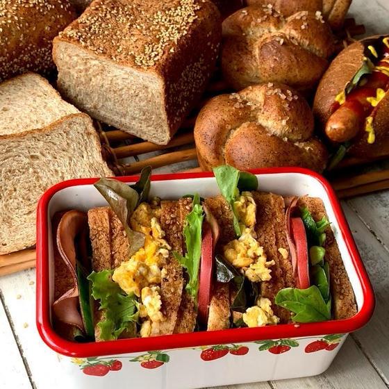 角食だからかわいいサンドイッチBOXに♪お弁当に最適!
