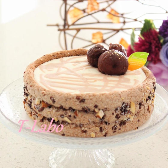 秋にほっこり「マロン・ショコラ・シャルロット」を作ろー。