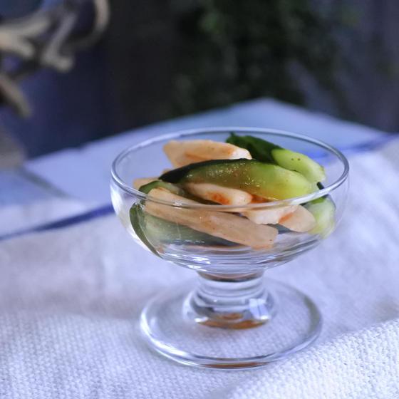 ・山芋とキュウリの辛味味噌和え