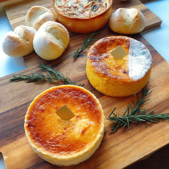 NYチーズケーキ&かぼちゃのチーズケーキ(グループ3名様)
