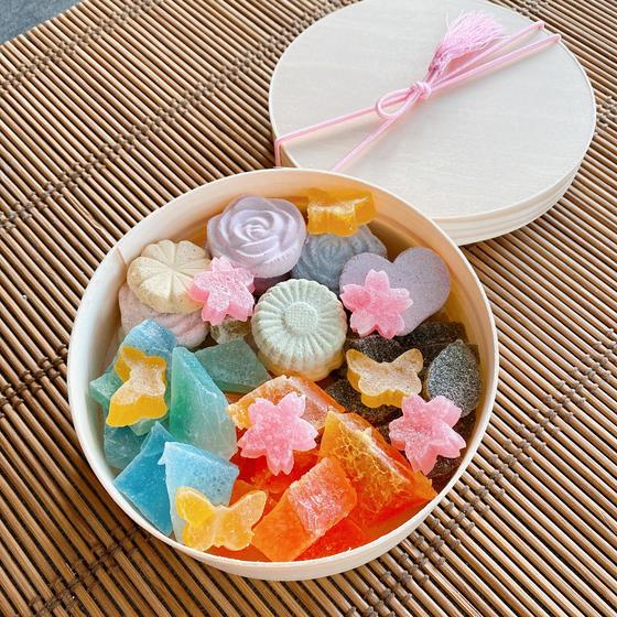 3種類のオリジナル和菓子でうっとり宝箱作り