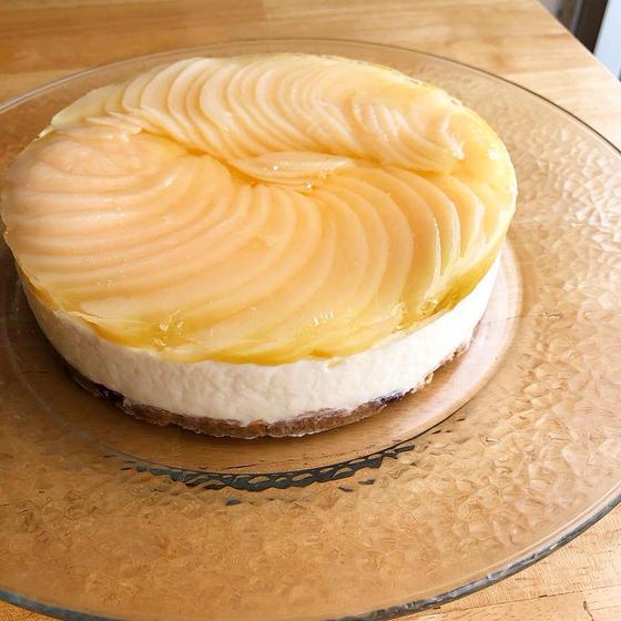 白桃のレアチーズケーキ 直径15cm